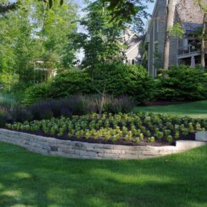 Ottawa buff natural limestone retaining wall